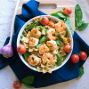 Easy Shrimp Garden Pasta Recipe