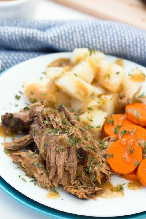 Slow Cooker Roast Beef, Potatoes, and Carrots - No Diets Allowed