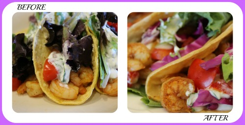 Shrimp Tacos Collage- No Diets Allowed