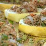 Shrimp Stuffed Yellow Squash- No Diets Allowed