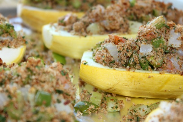 Shrimp Stuffed Yellow Squash