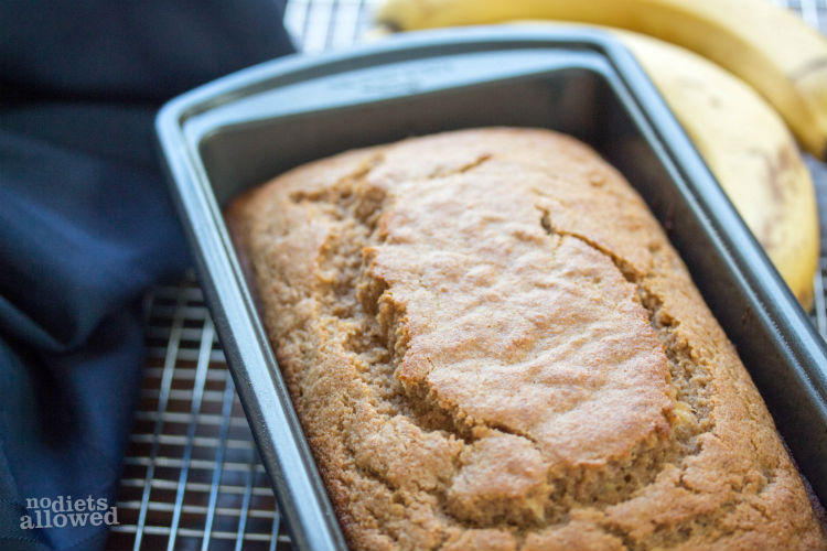 whole wheat banana bread - No Diets Allowed