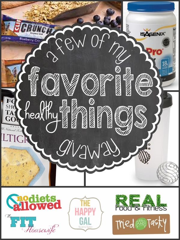 healthy things givaway resized Favorite Healthy Things Giveaway!