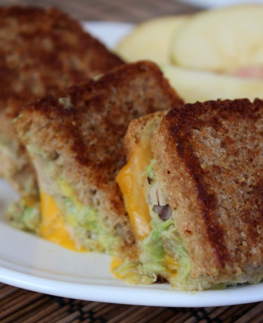 Avocado Tuna Grilled Cheese Sandwich 2- No Diets Allowed