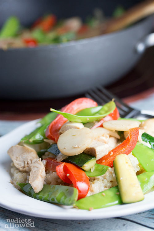 chicken stir fry with rice- No Diets Allowed