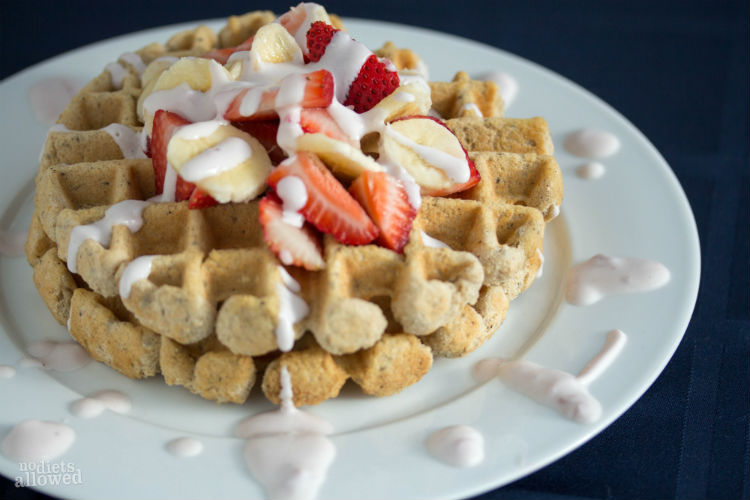 gluten free waffle - No Diets Allowed