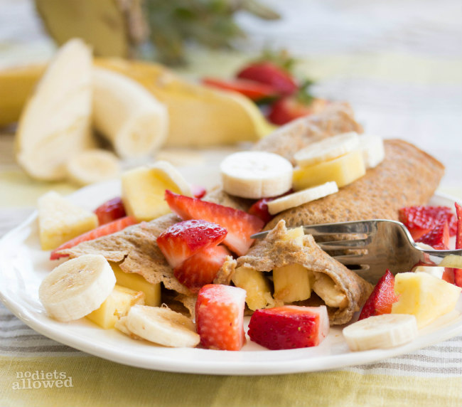 vegan crepes recipe - No Diets Allowed