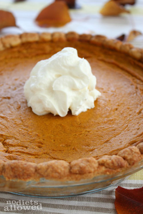 Healthy Pumpkin Pie | No Diets Allowed
