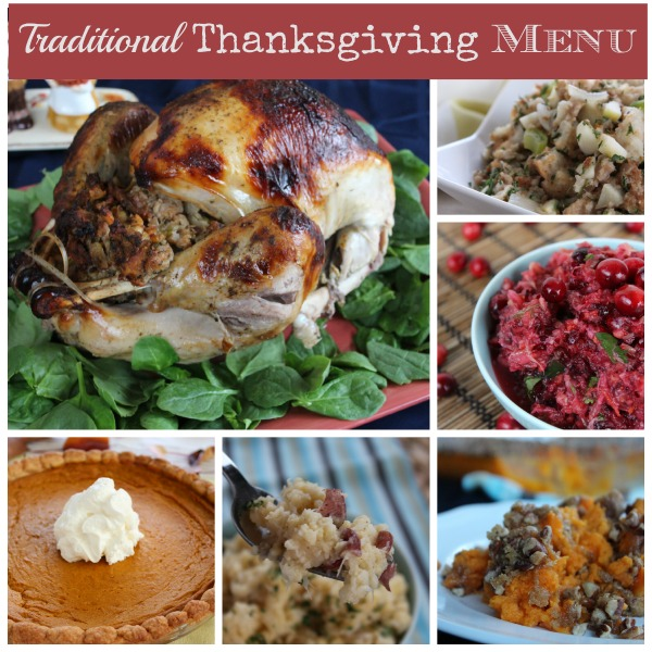 Traditional Thanksgiving Menu - No Diets Allowed