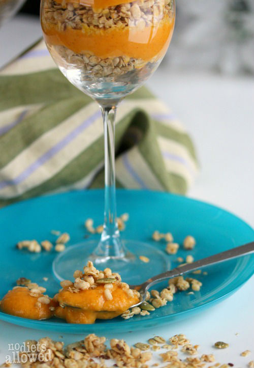 Pumpkin Parfait- No Diets Allowed