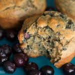 banana blueberry muffins- No Diets Allowed