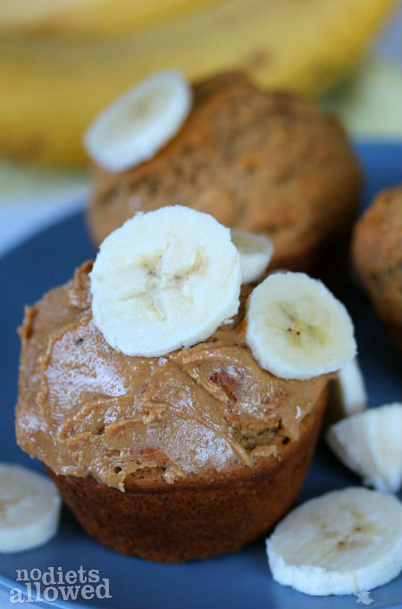 whole wheat banana muffins- No Diets Allowed