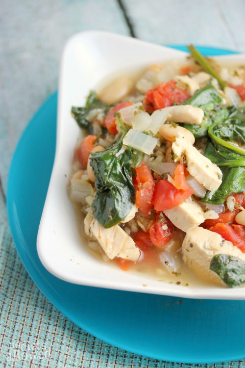 chicken white bean soup- No Diets Allowed
