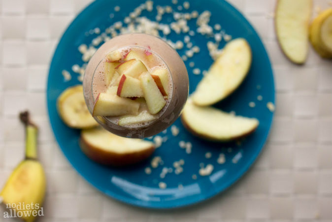 Banana Apple Oatmeal Smoothie- No Diets Allowed (3 of 3)