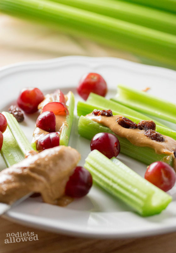Celery and Peanut Butter- No Diets Allowed