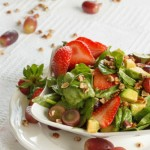 strawberry and spinach salad- No Diets Allowed