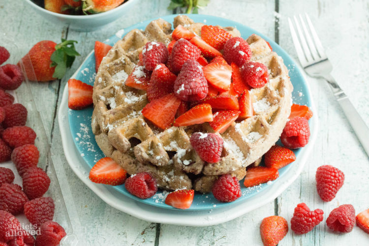 Raspberry Waffles Recipe - No Diets Allowed