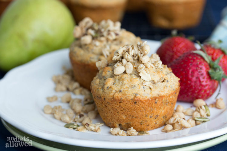 pear muffins - No Diets Allowed