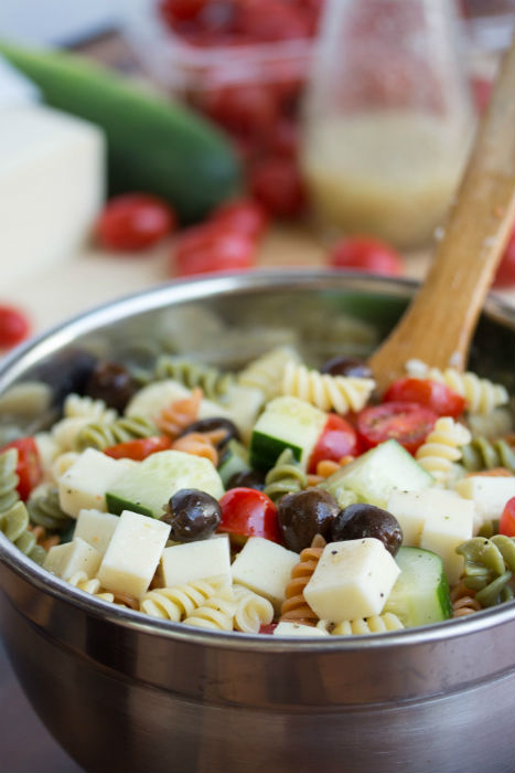 easy pasta salad with italian dressing - No Diets Allowed