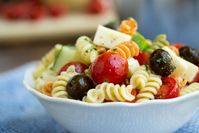 italian pasta salad - No Diets Allowed