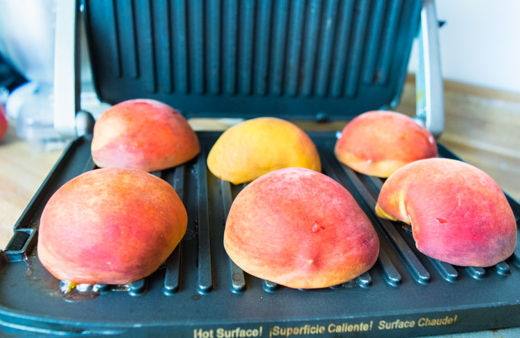 Grilled Peaches Balsamic Recipe - No Diets Allowed #Food #Foodie #Yummy #Peaches