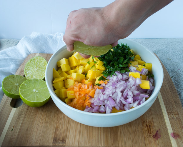 Easy Recipe For Mango Salsa - No Diets Allowed #Food #Foodie #MangoSalsa