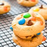 Peanut Butter M&M Cookies Recipe from Scratch - No Diets Allowed #Food #Foodie #M&M