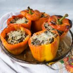 Stuffed Peppers with Fargo - No Diets Allowed #Food #Foodie #StuffedPeppers