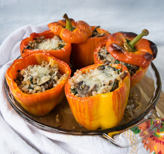 Farro Stuffed Peppers