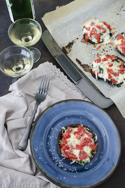 Recipe for Stuffed Portobello Mushrooms - No Diets Allowed #foodie #food #hungry