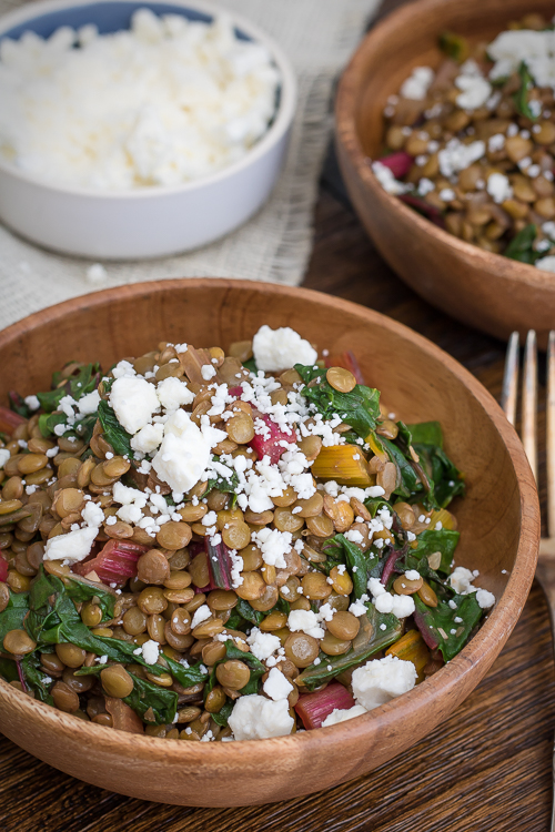 Swiss Chard & Lentil Salad Recipes - No Diets Allowed