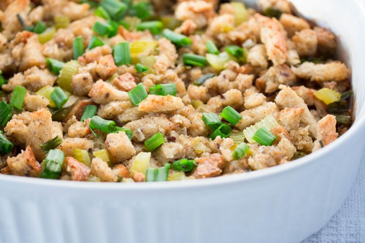 Thanksgiving Traditional Classic Bread Stuffing Recipe – No Diets Allowed #Food #Foodie