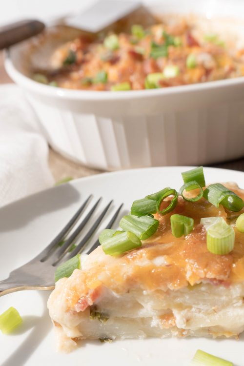 cheesy scalloped potatoes - No Diets Allowed