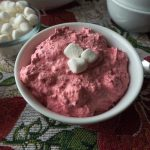 Easy Creamy Cranberry Salad with Cool Whip - No Diets Allowed #Food #Foodie #Cranberry