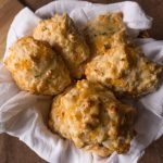 Easy Cheddar Cheese Biscuits - No Diets Allowed #Food #Foodie #Biscuit #Cheddar