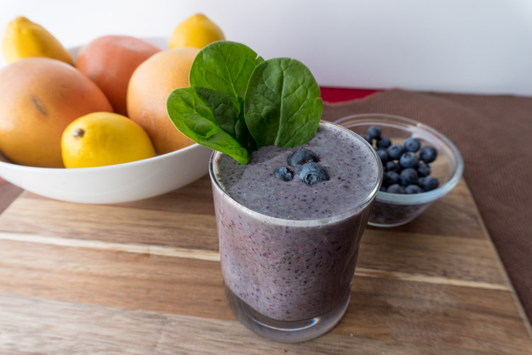 Healthy Triple Berry & Spinach Smoothie - No Diets Allowed