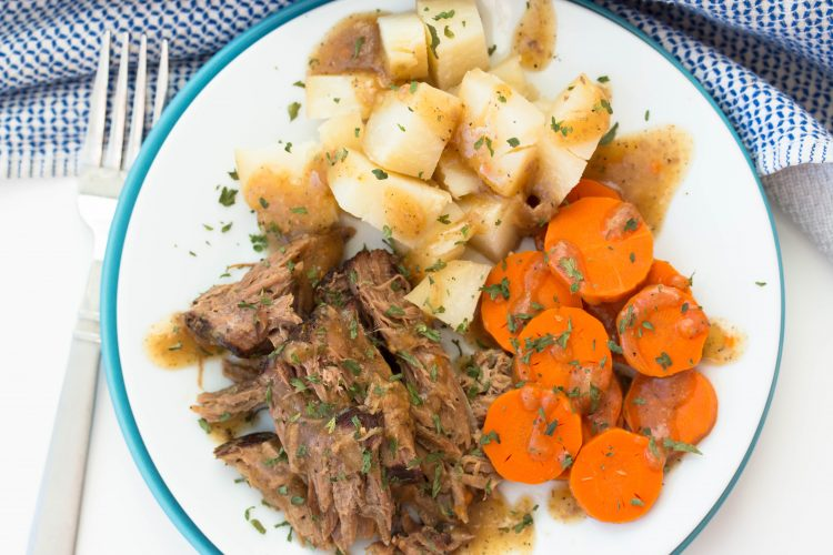 Slow Cooker Roast Beef Potatoes Carrots Recipe - No Diets Allowed
