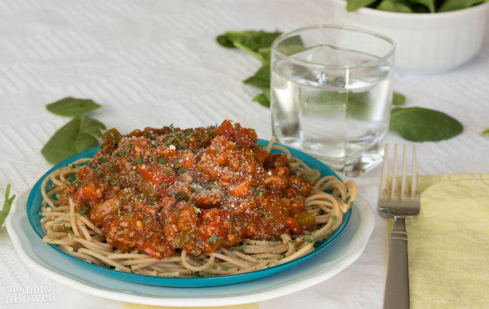 simple spaghetti sauce recipe- No Diets Allowed