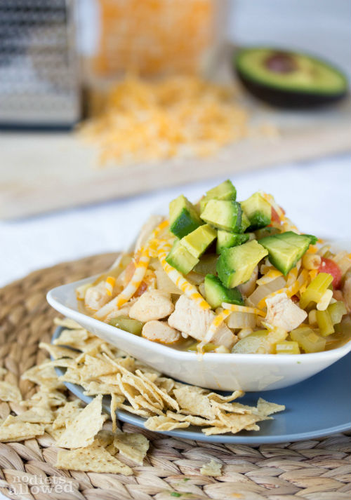 recipe for chicken tortilla soup- No Diets Allowed