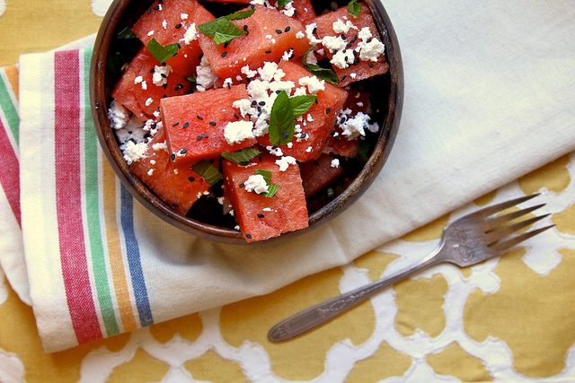 Watermelon, Feta, & Mint Salad- No Diets Allowed