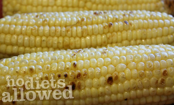 Grilled Corn-On-The-Cob- No Diets Allowed