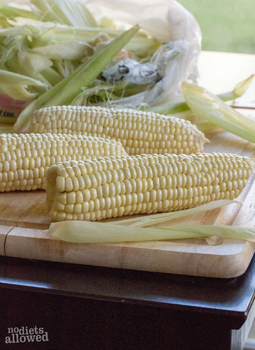 grilled corn on the cob recipe- No Diets Allowed