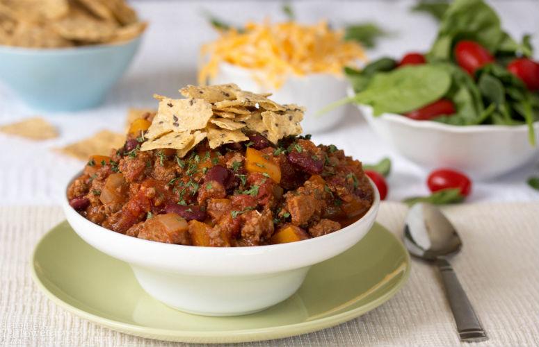 healthy turkey chili - No Diets Allowed