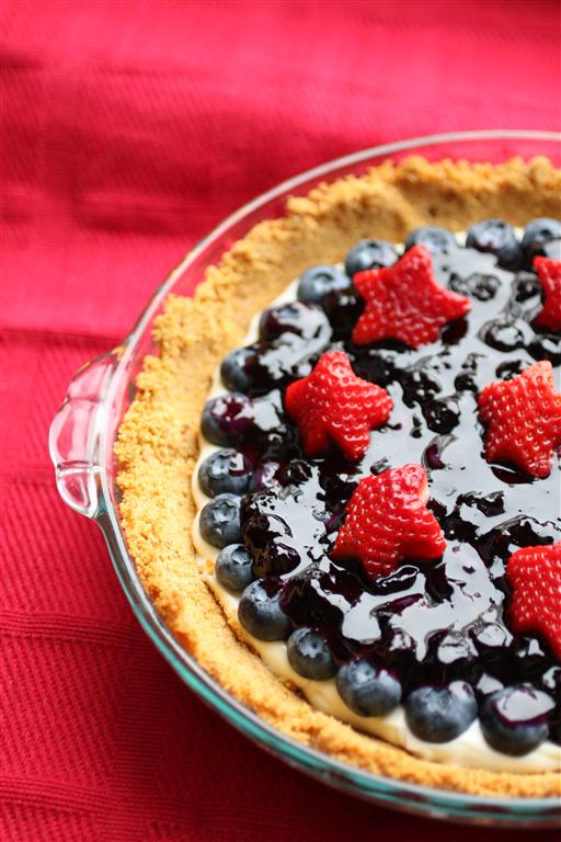 Red, White and Blueberry Sour Cream Tart- No Diets Allowed