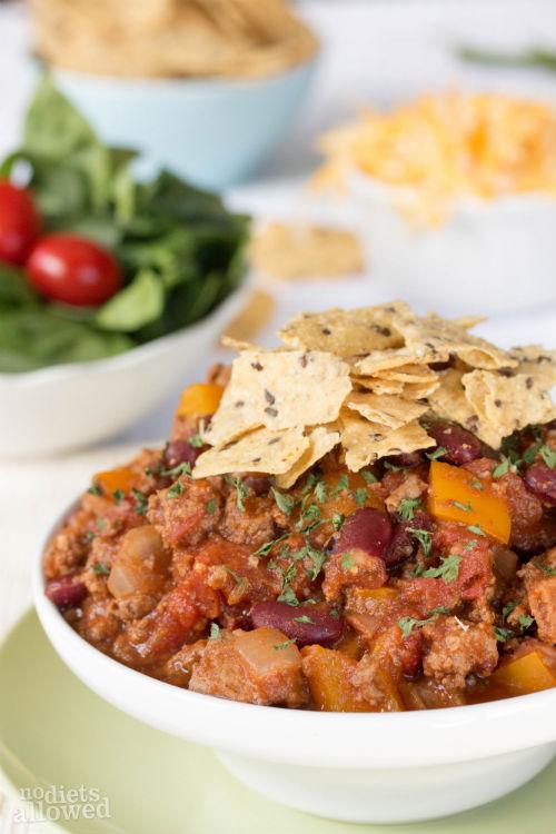 recipe for turkey chili - No Diets Allowed