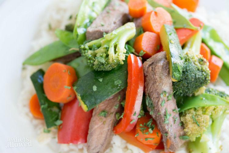 steak stir fry - No Diets Allowed