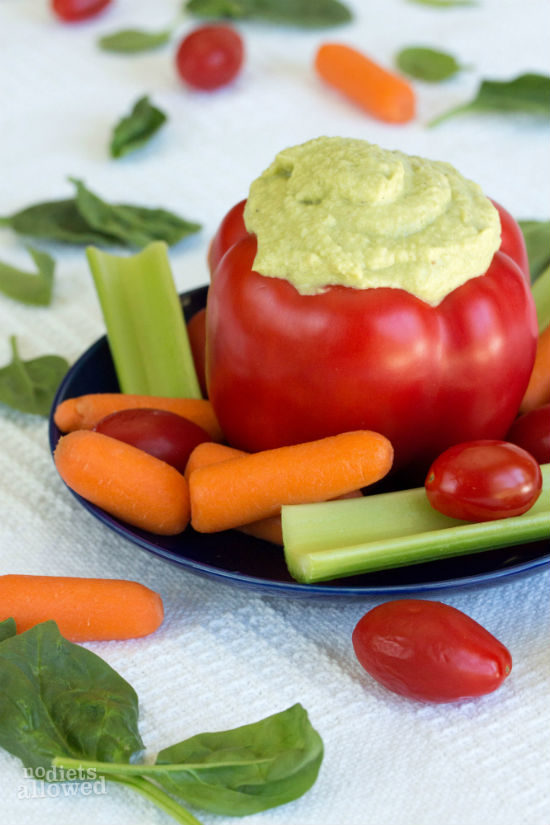 Edamame Hummus without tahini - No Diets Allowed