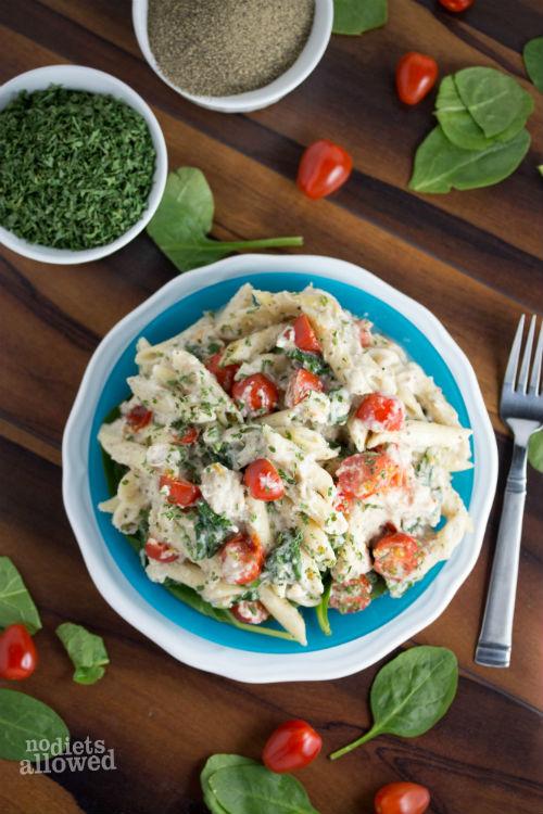 cauliflower alfredo sauce - No Diets Allowed
