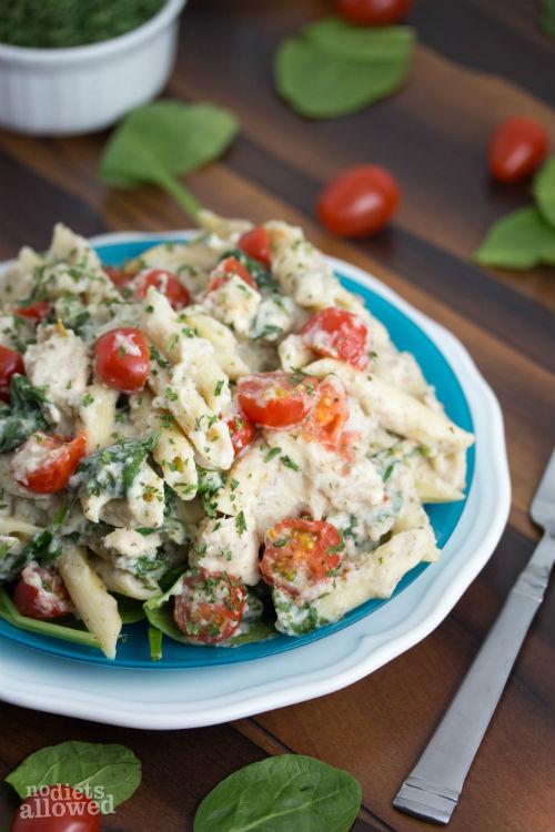 cauliflower alfredo sauce recipe - No Diets Allowed