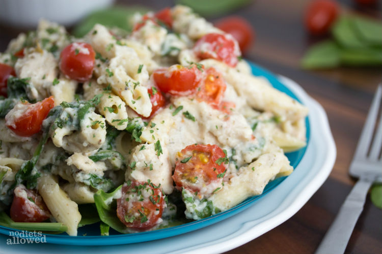 chicken alfredo sauce recipe - No Diets Allowed